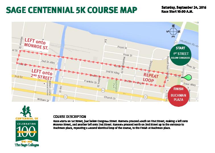 Centennial 5K Map